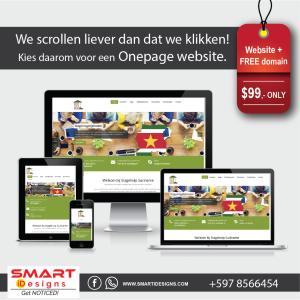 Onepage website + FREE Domain